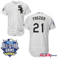 Chicago White Sox #21 Todd Frazier White 2016 All-Star Game Patch Flex Base Jersey