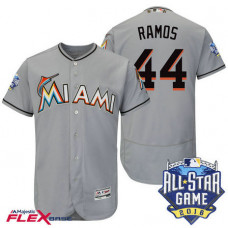 Miami Marlins #44 A.J. Ramos Grey 2016 All-Star Game Patch Flex Base Jersey