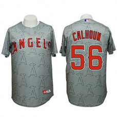 Angels #56 Kole Calhoun Authentic 3D Fashion Grey Jersey