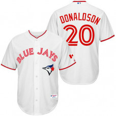 Blue Jays #20 Josh Donaldson White Authentic Cool Base Jersey