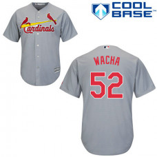 St. Louis Cardinals #52 Michael Wacha Grey Cool Base Away Jersey