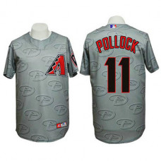Arizona Diamondbacks #11 AJ Pollock Authentic 3D Fashion Grey Jersey