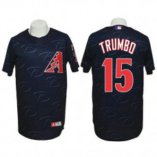 Arizona Diamondbacks #15 Mark Trumbo Authentic 3D Fashion Black Jersey