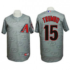 Arizona Diamondbacks #15 Mark Trumbo Authentic 3D Fashion Grey Jersey