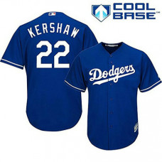 Los Angeles Dodgers #22 Clayton Kershaw Blue Authentic Cool Base Alternate Jersey