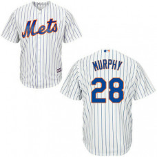 New York Mets #28 Daniel Murphy White Cool Base Home Jersey