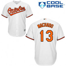 Baltimore Orioles #13 Manny Machado White Authentic Cool Base Home Jersey