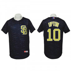 San Diego Padres #10 Justin Upton Authentic 3D Fashion Black Jersey