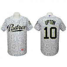 San Diego Padres #10 Justin Upton Authentic 3D Fashion White Jersey