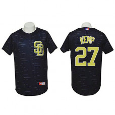 San Diego Padres #27 Matt Kemp Authentic 3D Fashion Black Jersey