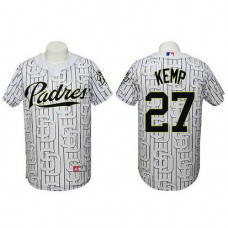 San Diego Padres #27 Matt Kemp Authentic 3D Fashion White Jersey