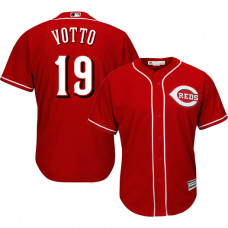 Cincinnati Reds #19 Joey Votto Red Cool Base Alternate Jersey