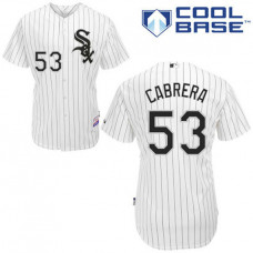 Chicago White Sox #53 Melky Cabrera Authentic White Jersey