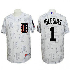 Detroit Tigers #1 Jose Iglesias Authentic 3D Fashion White Jersey
