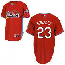 San Diego Padres #23 Adrian Gonzalez Red 2009 All Star Jersey