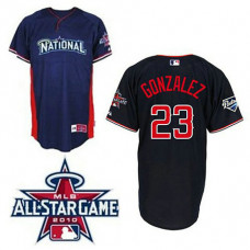 San Diego Padres #23 Adrian Gonzalez Blue National League 2010 All Star BP Jersey