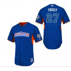 Los Angeles Angels of Anaheim #27 Mike Trout Blue 2013 All-Star Jersey