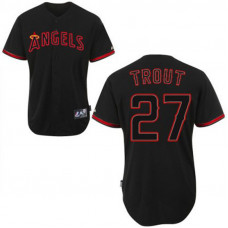 Los Angeles Angels of Anaheim #27 Mike Trout Black Fashion Jersey
