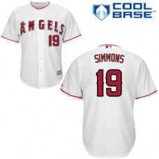 Andrelton Simmons #19 Los Angeles Angels White Cool Base Jersey