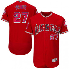 Los Angeles Angels of Anaheim #27 Mike Trout Red Flexbase Authentic Collection Jersey