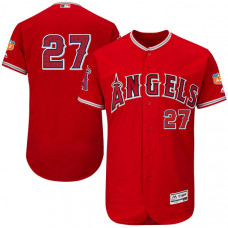 Los Angeles Angels of Anaheim #27 Mike Trout Scarlet Authentic Collection On-Field Spring Training Player Jersey