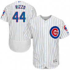 Anthony Rizzo #44 Chicago Cubs Home White Authentic Collection Flexbase Player Jersey