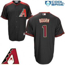 Arizona Diamondbacks #1 Michael Bourn Black Cool Base Jersey