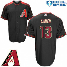Arizona Diamondbacks #13 Nick Ahmed Black Cool Base Jersey