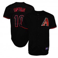 Arizona Diamondbacks #10 Justin Upton Black Fashion Jersey