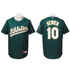 Oakland Athletics #10 Marcus Semien Authentic Watermark Fashion Green Jersey