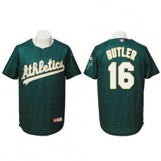 Oakland Athletics #16 Billy Butler Authentic Watermark Fashion Green Jersey