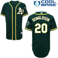 Oakland Athletics #20 Josh Donaldson Green Alternate Cool Base Jersey