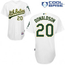 Oakland Athletics #20 Josh Donaldson Authentic white Home Cool Base Jersey
