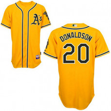 Oakland Athletics #20 Josh Donaldson Yellow 2011 Alternate 2 Cool Base Jersey