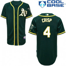 YOUTH Oakland Athletics #4 Coco CrispAuthentic Green Alternate Cool Base Jersey