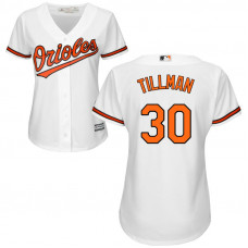 Women - Baltimore Orioles Chris Tillman #30 Home White Cool Base Jersey