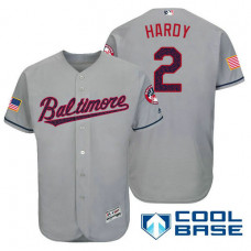 Baltimore Orioles #2 J.J. Hardy Grey Stars & Stripes 2016 Independence Day Cool Base Jersey