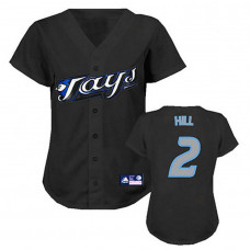 Women - Toronto Blue Jays #2 Aaron Hill BlackFashion Jersey