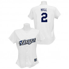 Women - Toronto Blue Jays #2 Aaron Hill White Fashion Jersey