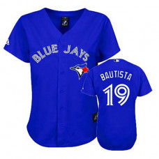 Women - Toronto Blue Jays #19 Jose Bautista BlueFashion Jersey