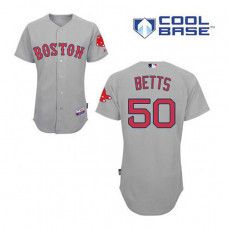 Boston Red Sox #50 Mookie Betts Grey Cool Base Authentic Player Jersey