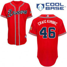 YOUTH Atlanta Braves #46 Craig KimbrelAuthentic Red Alternate Cool Base Jersey