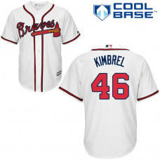 YOUTH Atlanta Braves #46 Craig KimbrelAuthentic White Home Cool Base Jersey