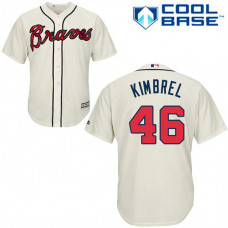 YOUTH Atlanta Braves #46 Craig KimbrelAuthentic Cream Alternate Cool Base Jersey
