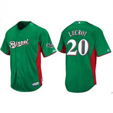 Milwaukee Brewers #20 Jonathan Lucroy Green Birrai Cool Base Jersey