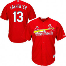 St. Louis Cardinals #13 Matt Carpenter Red Alternate Cool Base Jersey