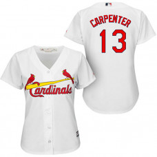 St. Louis Cardinals #13 Matt Carpenter White Home Cool Base Jersey
