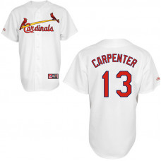 St. Louis Cardinals #13 Matt Carpenter White Authentic Cool Base Jersey