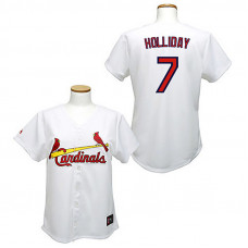 Women - St. Louis Cardinals #7 Matt Holliday White Fashion Jersey