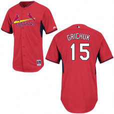 St. Louis Cardinals #15 Randal Grichuk Red Cool Base BP Jersey